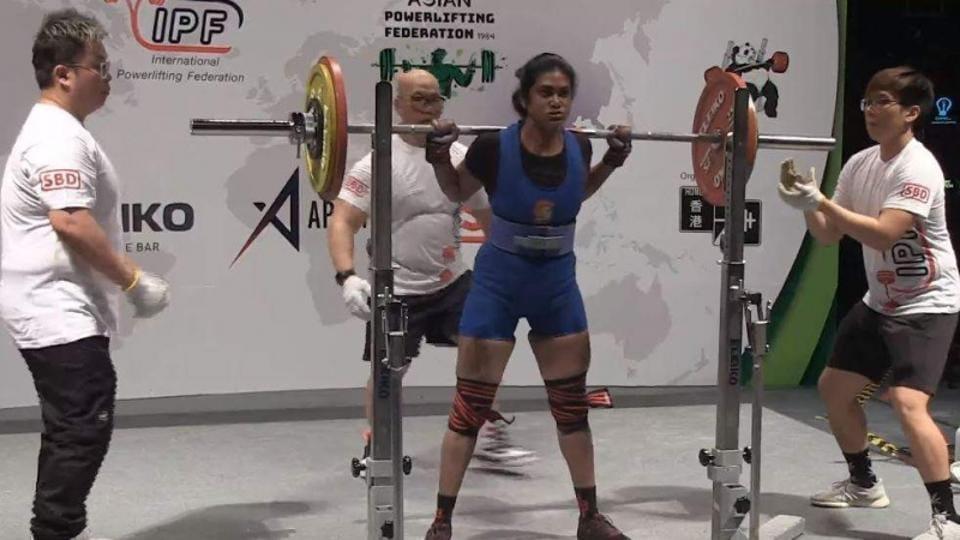 Asian Powerlifting Championship gold medallist Arthi Arun