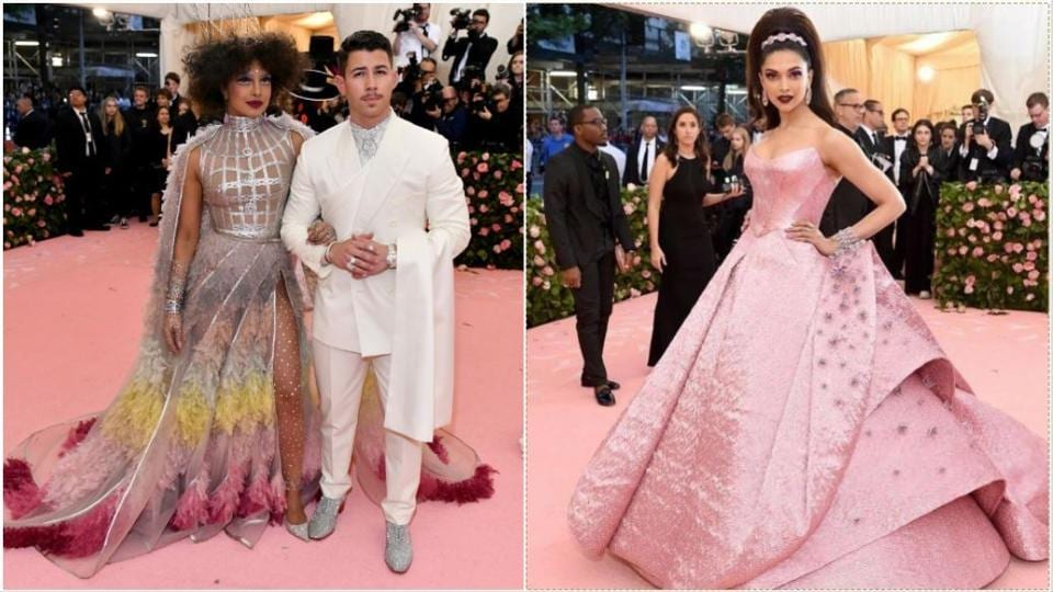 Priyanka Chopra-Nick Jonas and Deepika Padukone at the Met Gala.
