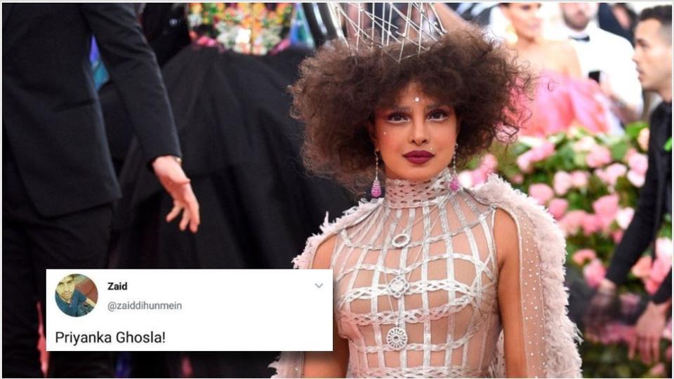 Priyanka Chopra followed the Met Gala camp fashion theme to the beat but people were not really feeling it.