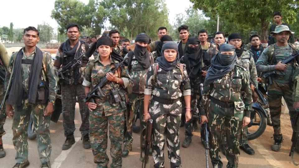 A women's commando unit of Chhattisgarh Police  comprising former Maoist fighters.