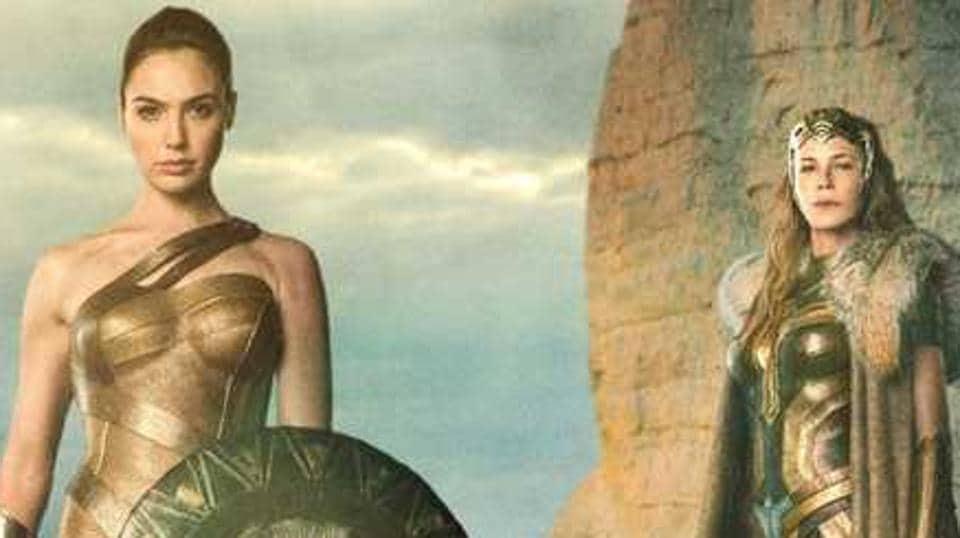 Gal Gadot as Wonder Woman, and Connie Nielsen as Hippolyta.