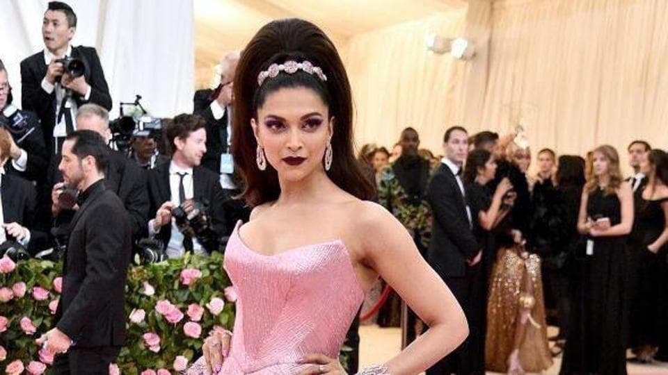 Deepika Padukone poses for photographs at Metropolitan Museum of Art Costume Institute Gala during Met Gala Camp: Notes on Fashion in New York City.