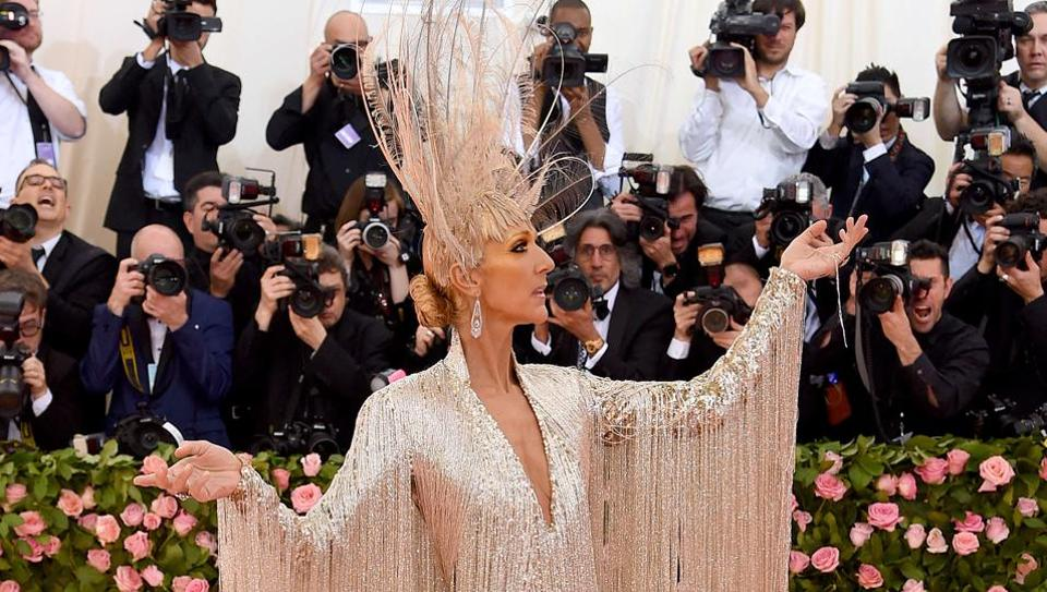 NEW YORK, NEW YORK - MAY 06: Celine Dion attends The 2019 Met Gala Celebrating Camp: Notes on Fashion at Metropolitan Museum of Art on May 06, 2019 in New York City. Jamie McCarthy/Getty Images/AFP