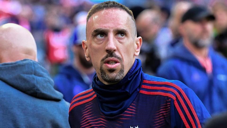 Bayern Munich's French midfielder Franck Ribery arrives prior to the German first division Bundesliga football match.