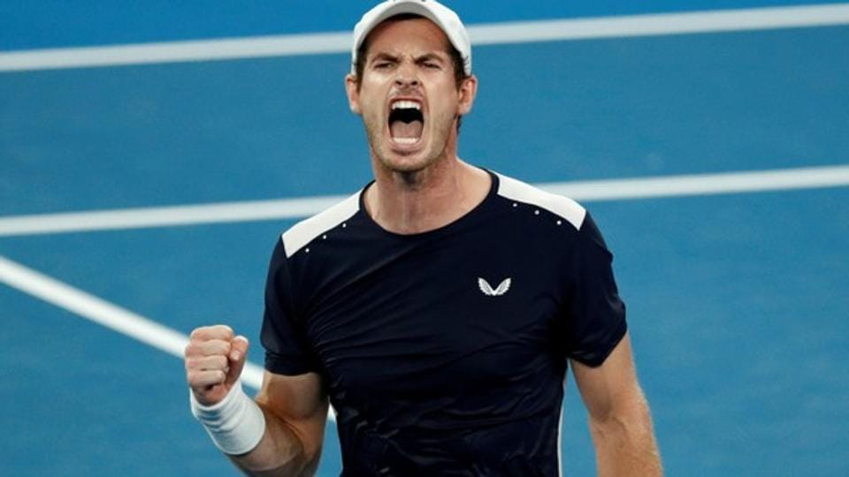 Britain's Andy Murray reacts during the match against Spain's Roberto Bautista Agut.