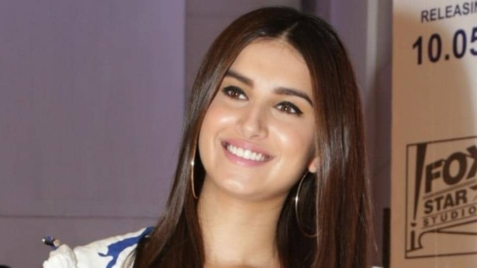 Tara Sutaria at a press conference during the promotions of her upcoming film, Student of the Year 2.