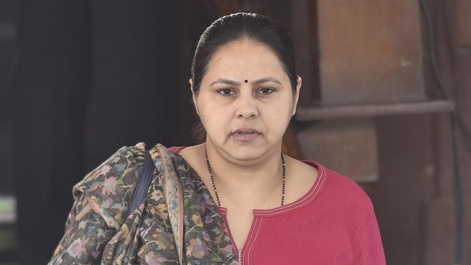 Rashtriya Janata Dal (RJD) superemo Lalu Prasad's eldest daughter and Rajya Sabha MP, Misa Bharti.