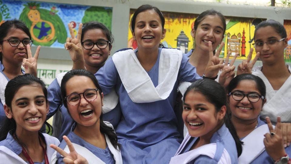 After bagging the lion's share in CBSE-12 merit list, students from Uttar Pradesh stole the limelight in CBSE-10, too, with eight students of the state figuring among the 13 joint first rankers, who all scored 499 marks. (Photo by Deepak Gupta / Hindustan Times)