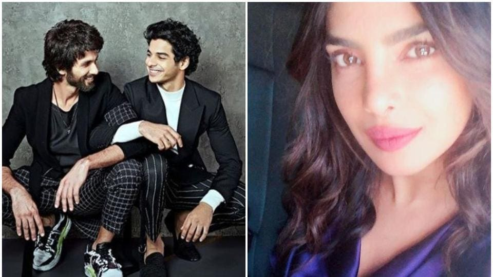 Neha Dhupia asked Ishaan Khatter about his half brother Shahid Kapoor's ex-girlfriends on her chat show.