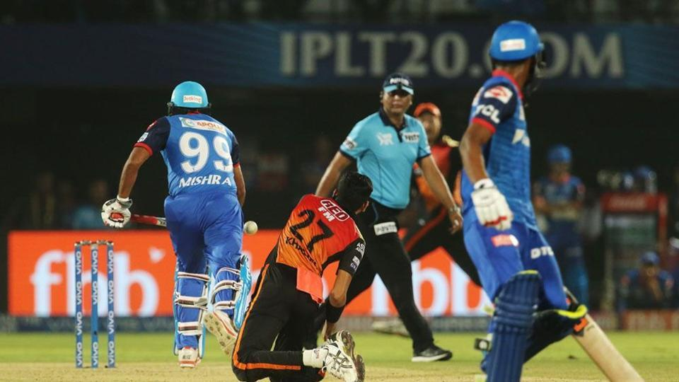 Amit Mishra became the second batsman in the history of the Indian Premier League (IPL) to be given out obstructing the field.