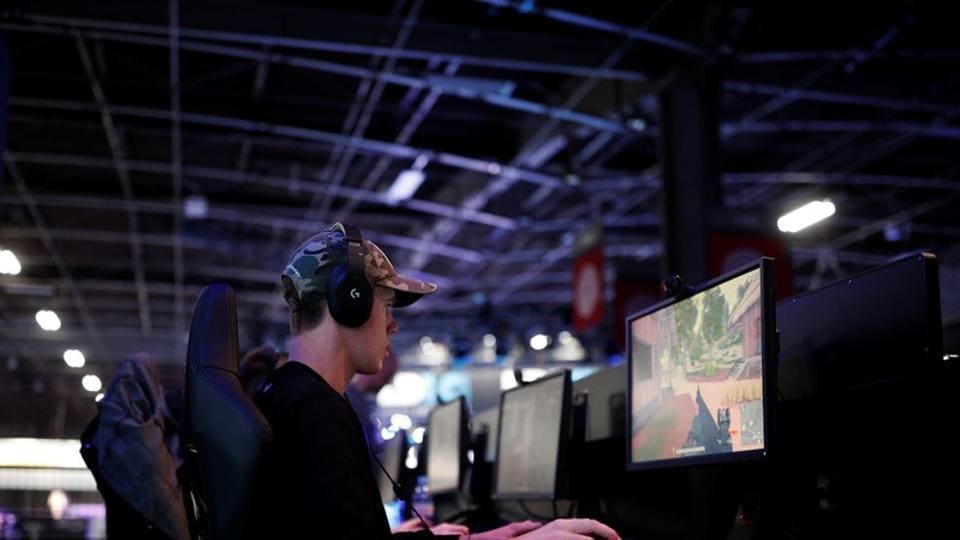 A gamer plays PlayerUnknown's Battlegrounds (PUBG) at the Paris Games Week (PGW), a trade fair for video games in Paris, France.