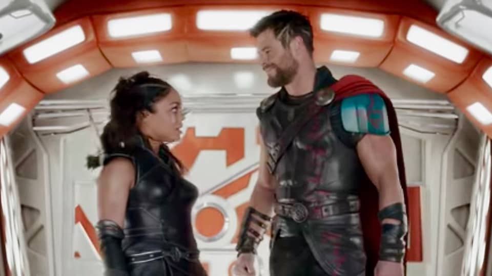 Thor and Valkyrie in a still from Thor: Ragnarok.