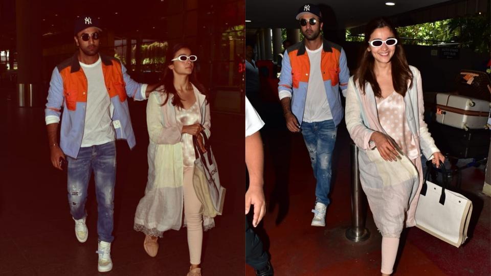 Ranbir Kapoor, Alia Bhatt spotted at the Mumbai airport on Friday.