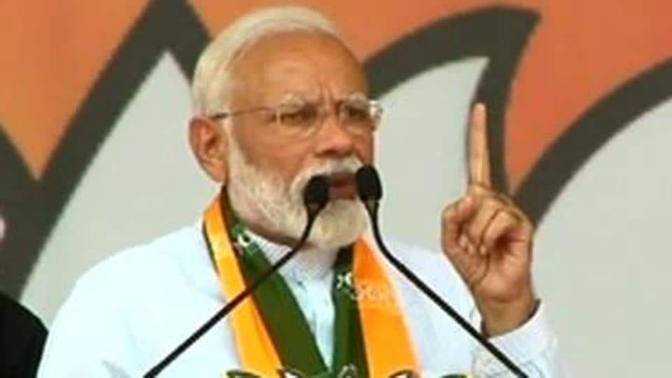 """The Prime Minister repeated Pitroda's words """"hua toh hua"""" and told the crowd at the rally that the true colours of the Congress were exposed"""