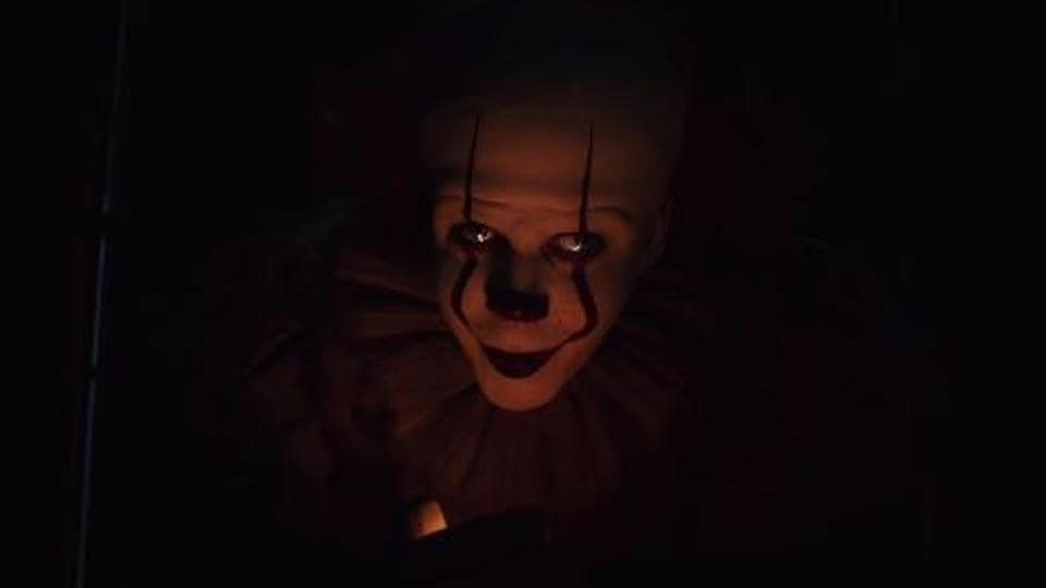 Actor Bill Skarsgard as Pennywise in a still from It: Chapter 2.