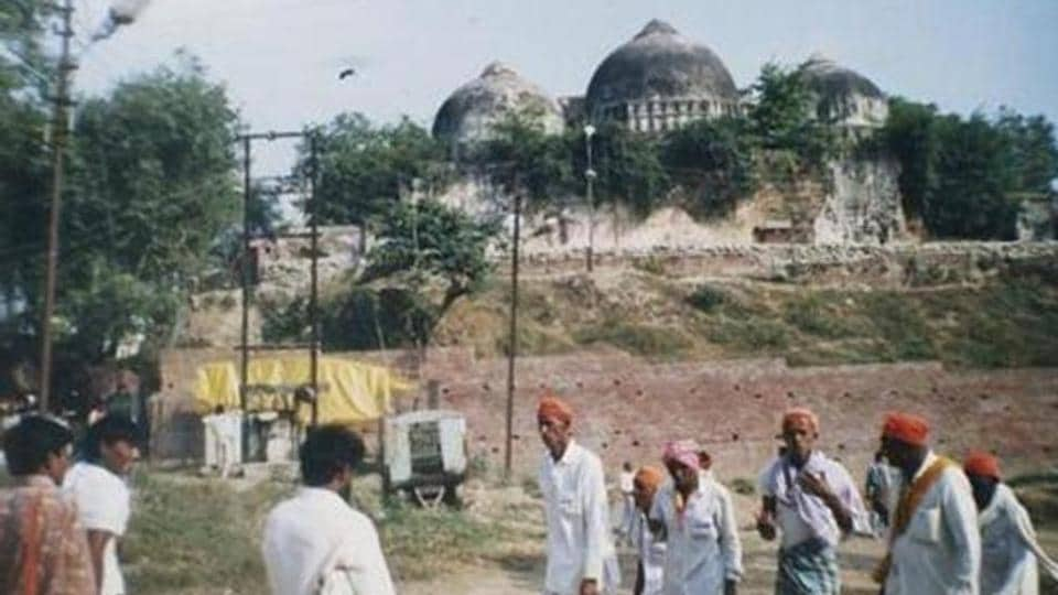 The Supreme Court will on Friday hear the politically sensitive Ram Janmabhoomi-Babri Masjid land dispute case and may take up the report of the mediation panel tasked with exploring the possibility of an amicable settlement of the decades-old issue.(HT Photo)