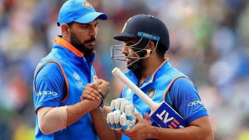 Image result for yuvraj singh and rohit