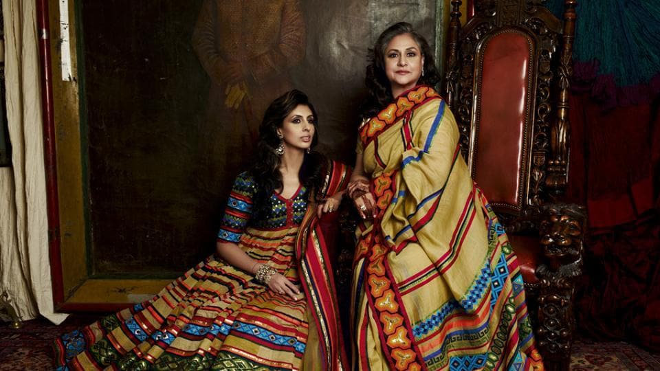 Shweta Nanda and Jaya Bachchan complement each other in Abu Jani Sandeep Khosla's creations.