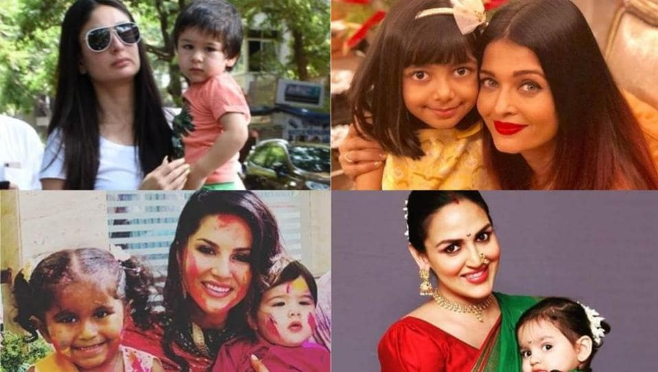 Mother's Day: Kareena Kapoor, Aishwarya Rai, Sunny Leone and Esha Deol with their kids.