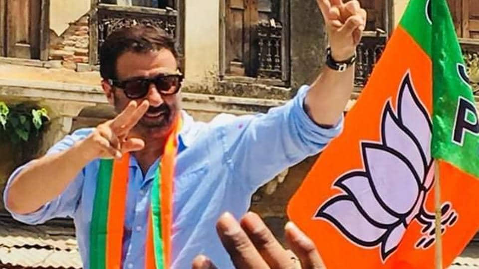 """Launching an offensive against Deol, Singh said the actor-turned-politician does not have any stakes in Gurdaspur and he will """"run away"""" to Mumbai after the Lok Sabha election."""