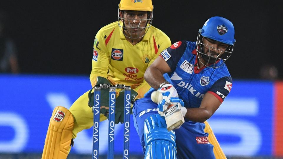 Rishabh Pant in action.