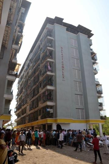 On Wednesday, Balaji Complex at Nandivli in Dombivli was partially demolished by KDMC.
