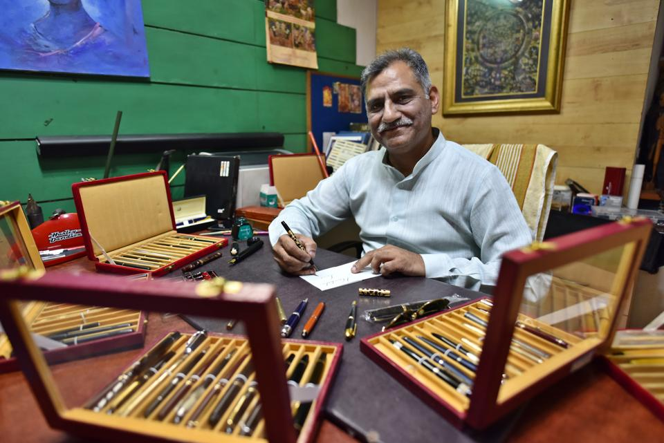 Ashok Jain from Delhi has a collection of over 1,400 pens. He also started the Pen Club of India, which helps collectors use pens as collateral to get loans... so they can buy more pens.