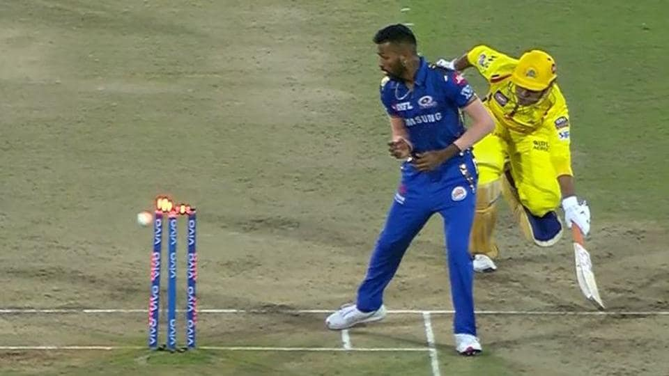 Image result for IPL final:dhoni out or not out