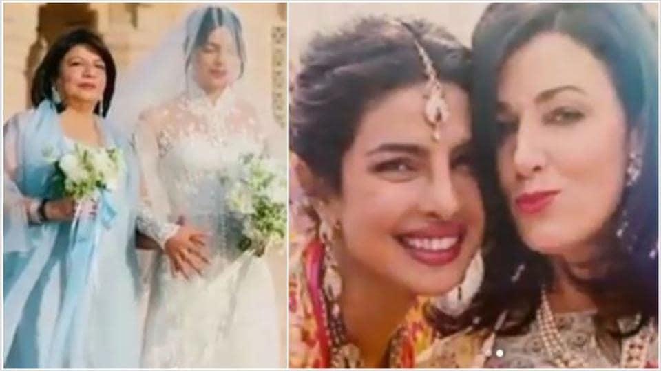 Priyanka Chopra shared videos of mother Madhu Chopra and mother-in-law Denise Jonas.