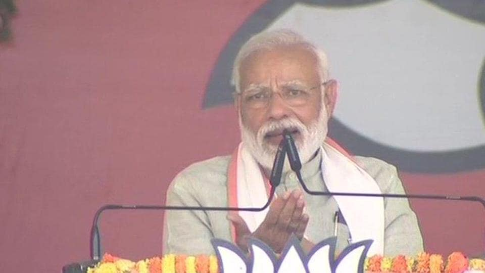 Facing opposition attack over his caste, Prime Minister Narendra Modi on Sunday said he was born a backward but he doesn't do politics on such lines.