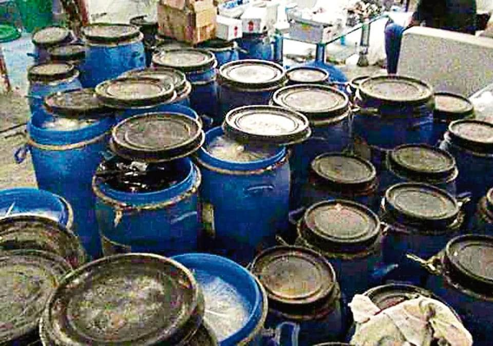 Several canisters and boxes filled with the drug were found in the Greater Noida house.