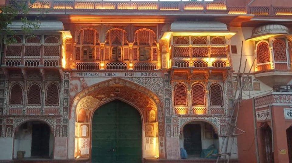maharaja's girls high school jaipur,natani haveli,jaipur's first girls school