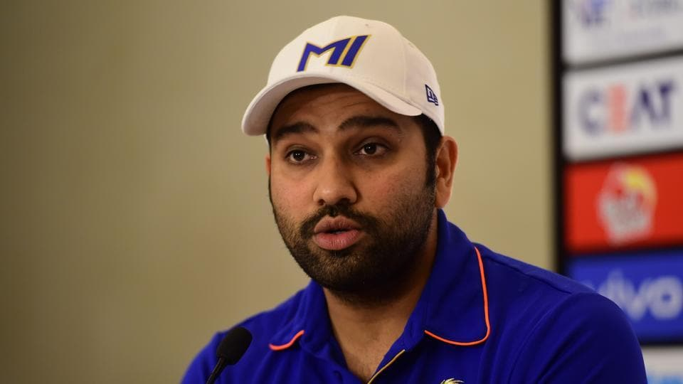 Hyderabad: Mumbai Indians (MI) captain Rohit Sharma addresses a press conference ahead of the Indian Premier League 2019 (IPL T20) cricket Final match against Chennai Super Kings (CSK) in Hyderabad, Saturday, May 11, 2019