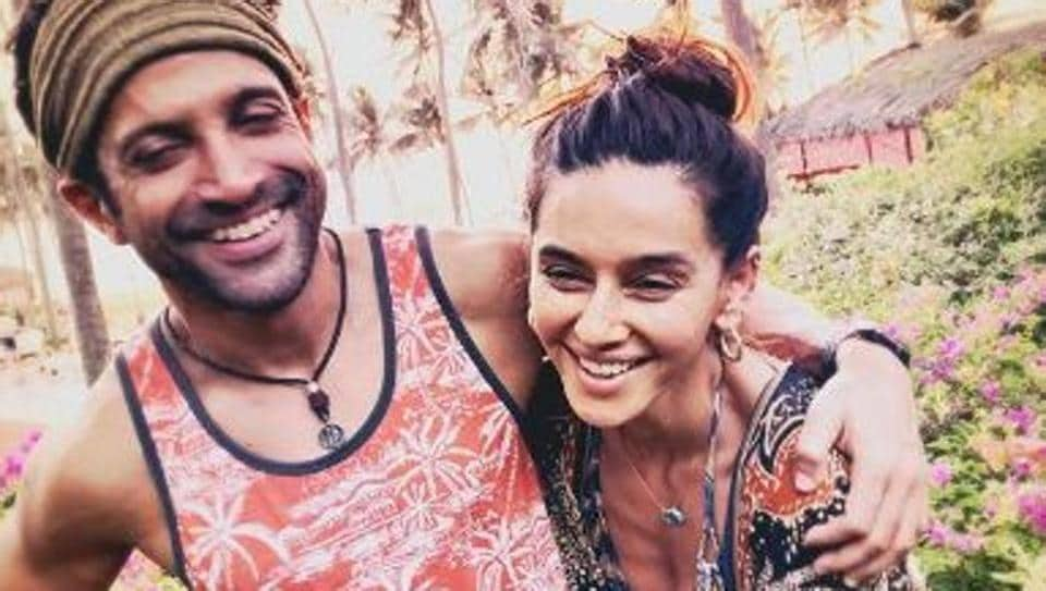 Image result for Farhan Akhtar and Shibani Dandekar