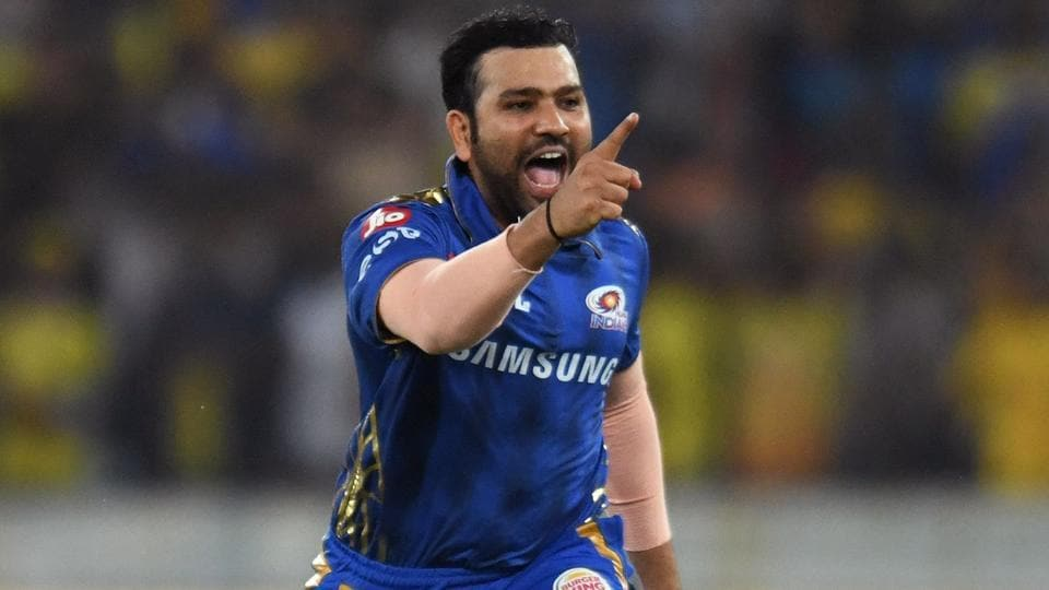 Mumbai Indians cricket captain Rohit Sharma celebrates after winning the 2019 Indian Premier League (IPL).