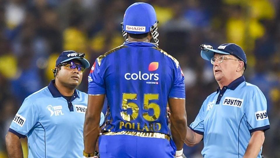 IPL 2019: Kieron Pollard Fined For Break Of Code Of Conduct