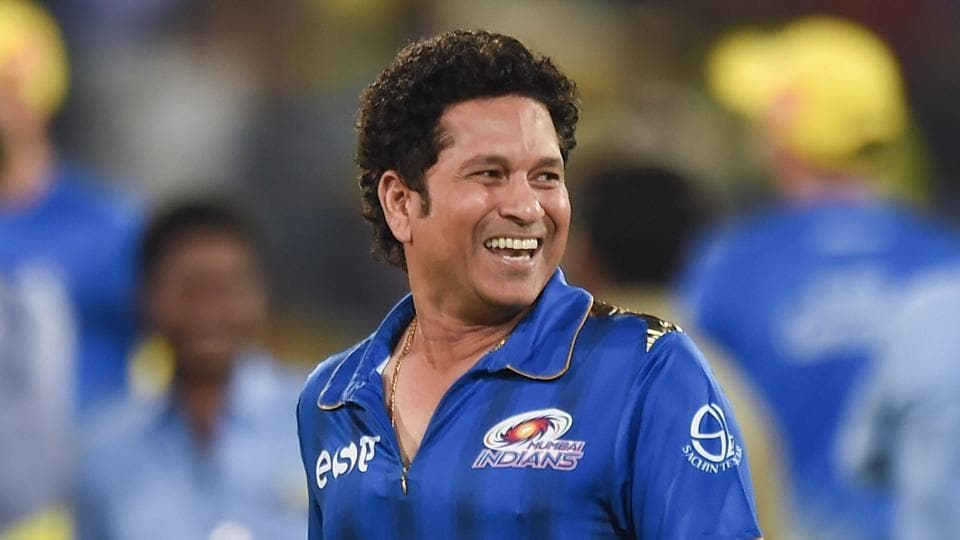Former Mumbai Indians cricketer Sachin Tendulkar during the Indian Premier League 2019 final