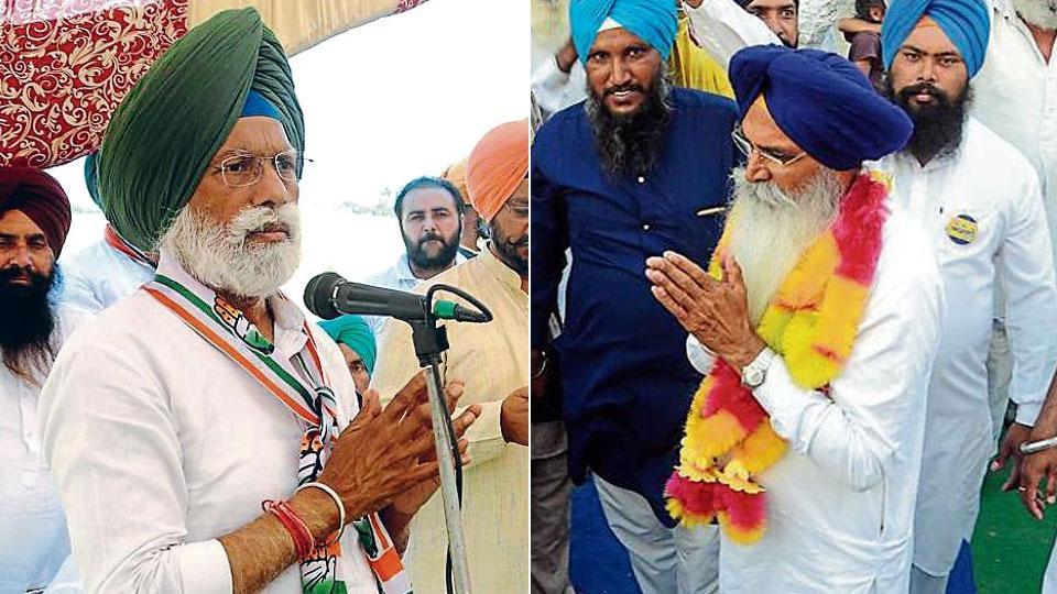 Congress' Fatehgarh Sahib Lok Sabha candidate Dr AmarSingh (left) and SAD nominee Darbara Singh Guru are both former bureaucrats.