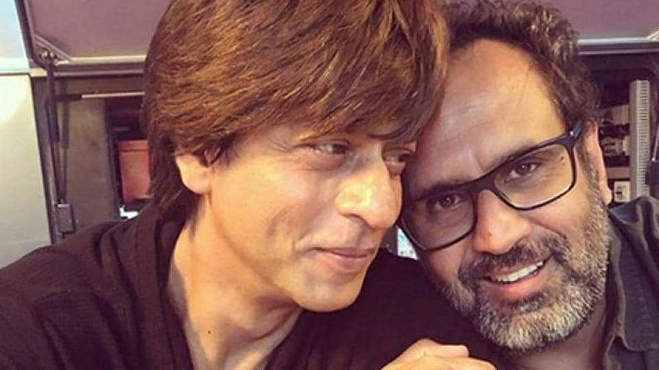Shah Rukh Khan and Aanand L Rai on the sets of Zero.
