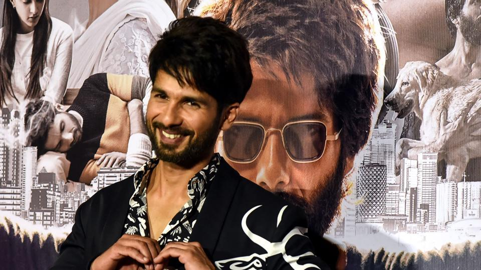 Shahid Kapoor gestures as he poses for photographs during the trailer launch of the upcoming Hindi film 'Kabir Singh' in Mumbai on May 13.