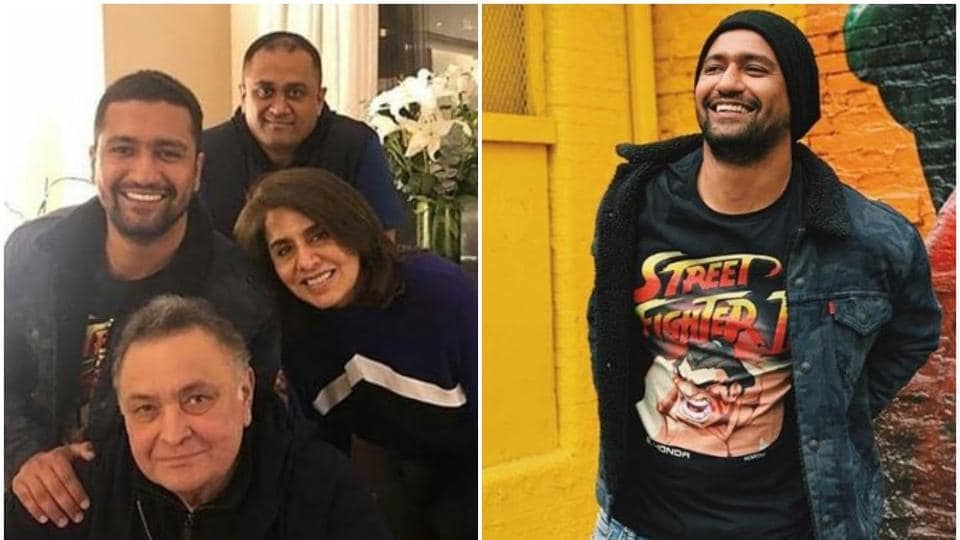 Vicky Kaushal, who is currently in New York on a break from work, metRishiKapoor and NeetuSingh recently.