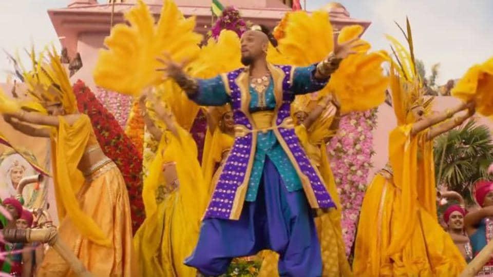 Will Smith as Genie in a still from Disney's Aladdin remake.