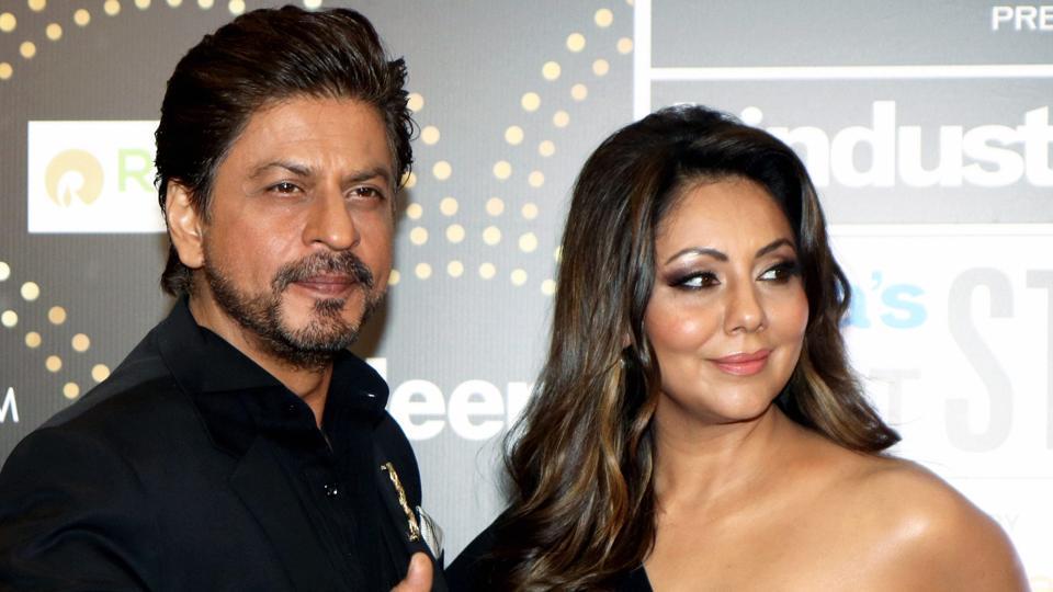 Bollywood actor Shah Rukh Khan and his wife Gauri Khan.