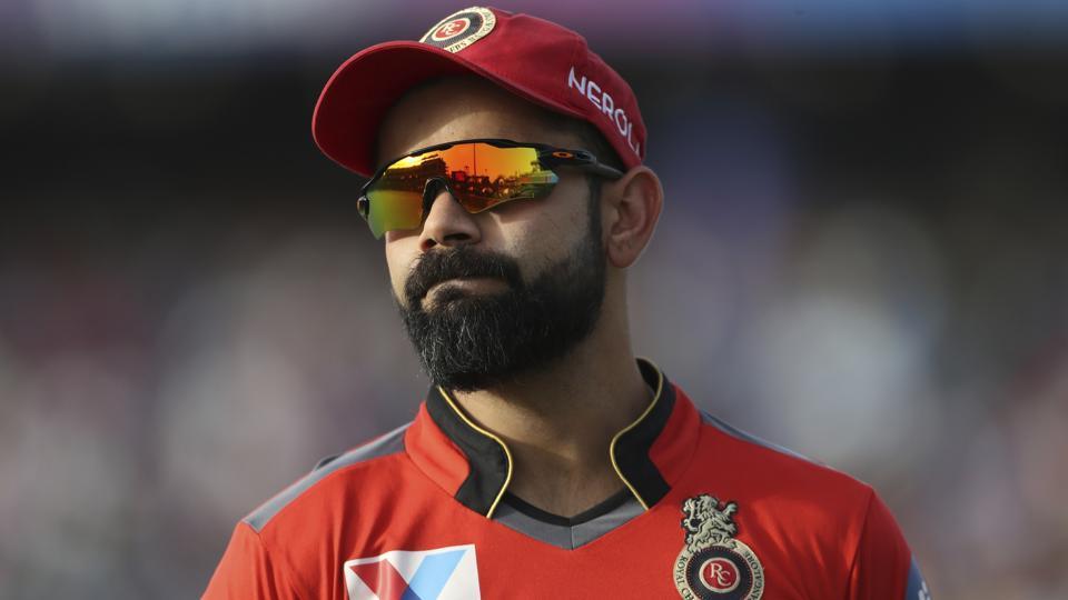Royal Challengers Bangalore captain Virat Kohli reacts during the Indian Premier League (IPL) 2019.