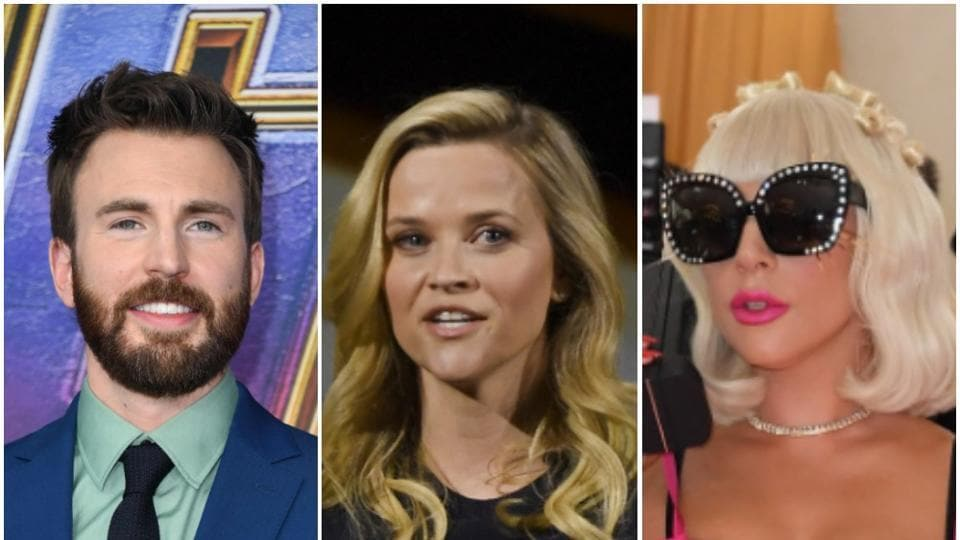 Chris Evans, Reese Witherspoon and Lady Gaga.