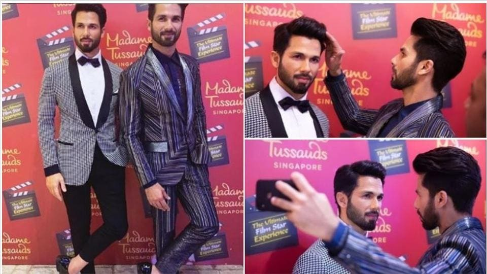 Shahid Kapoor unveils his Madame Tussauds wax figure, fans wonder which one is the real Sasha