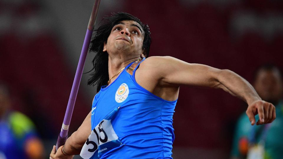 India's Neeraj Chopra competes in the final of the men's javelin throw athletics event during the 2018 Asian Games in Jakarta on August 27, 2018.