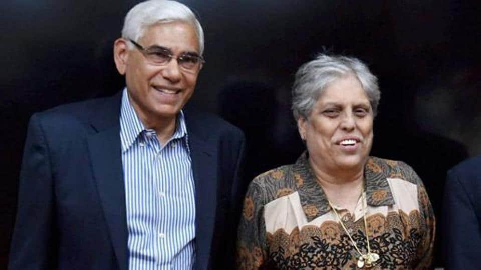 Diana Edulji with another CoA member Vinod Rai (File Photo)