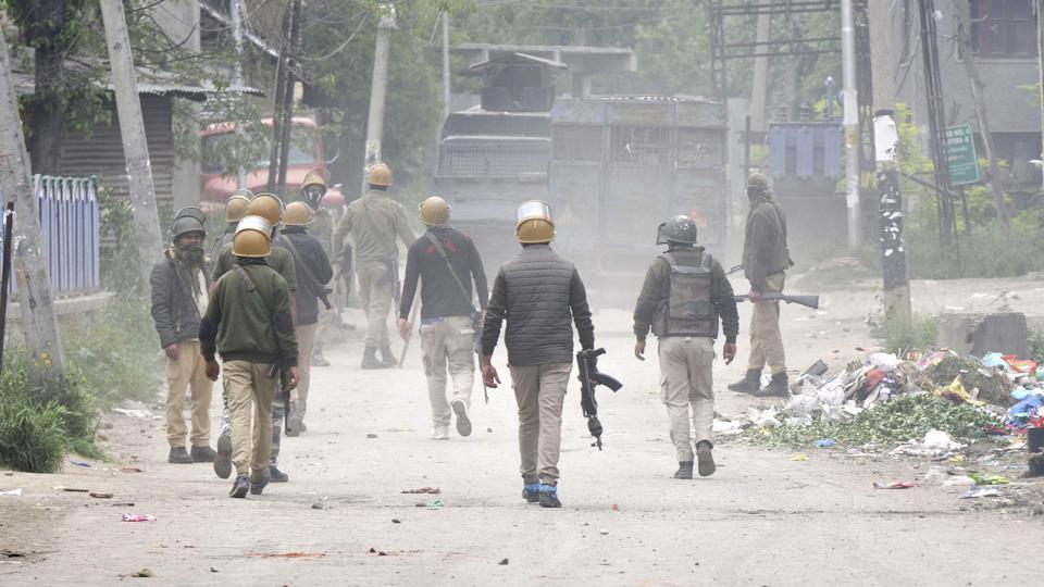 Eight persons, including six militants, were killed in two separate gunfights in south Kashmir on Thursday, police and army officials said.