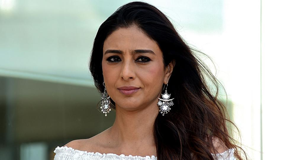 Tabu during promotion of her upcoming film De De Pyaar De.